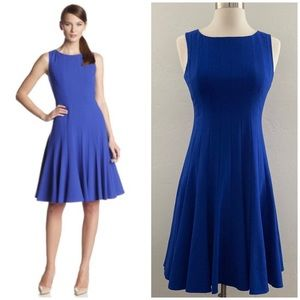 Calvin Klein Pleated Fit & Flare Dress Blue 2P
